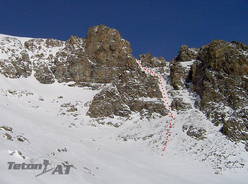 Spur couloir off of Banana