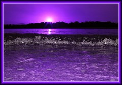 purple sunset bubbles