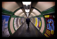 tube (pfig) Tags: people urban london colors colours 28mm tube tunnel explore commute grdigital ricoh embankment digilomo londonist pfig creativecommonscentral