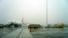 Tarmac (Amaury Henderick) Tags: mist portugal tarmac fog airplane airport airplanes aeroporto porto ryanair tmobile 169 brouillard oporto avion avions vliegtuig luchthaven aroport boeing737800 boeing737 vliegtuigen franciscoscarneiro