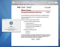 Canada Revenue unsupported browser 1: Safari 2