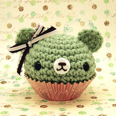 Amigurumi Mint Chocolate Cupcake Bear