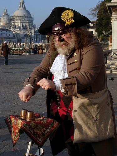 Busker in Venice