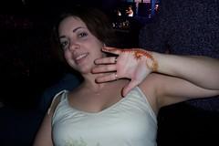 My birthday henna at the RHCP concert (kat_henna) Tags: hand henna rhcp mehndi