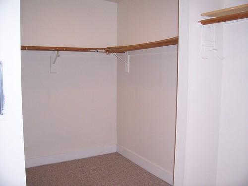 back of closet/room