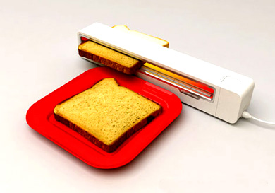 Hereu0027s A First: An Innovative Toaster Concept That Lets You Slide Bread  Right Through Instead Of Having It Pop Up. [Source]