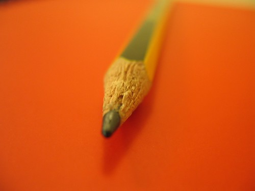 "A pencil on my ""Red Notebook"" by Iacovos Constantinou"