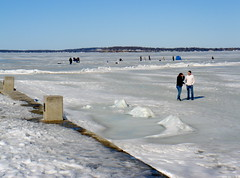 Lake Mendota in March (Ann Althouse) Tags: lake ice wisconsin frozen madison frozenlake memorialterrace