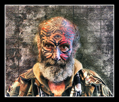 Paul Morris yesterday (Brett Wilde) Tags: portrait face tattoo beard birmingham head hdr nec crufts brettwilde