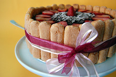Strawberry Chocolate Cake (Mad Baker) Tags: cake strawberry chocolate sponge ladyfinger