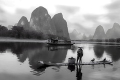 Yangshuo (B_cool) Tags: blackandwhite guilin yangshuo globalvillage  abigfave