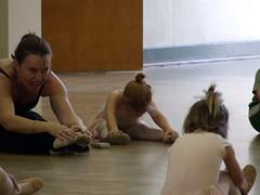 Genevieve's first ballet class