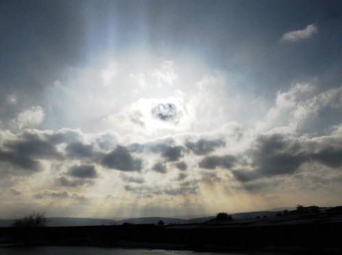 Nubes extrañas en Orduña