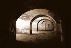 "Modern Cave - ""A"" (sluggoman) Tags: sanfrancisco sepia architecture fortpoint superaplus aplusphoto"