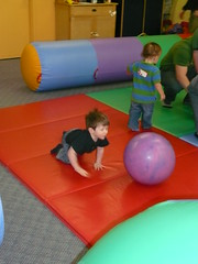 Chasing the Purple Ball (DNAMichaud) Tags: birthdayparty benjamin geoffrey gymboree