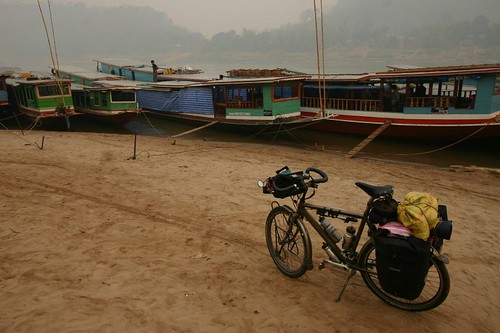 The ferry dock in Louang Prabang...