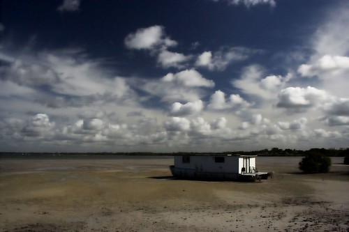 House Boat Beached at Tin Can Bay