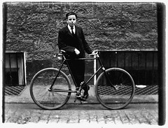 September 29, 1896 (musicmuse_ca) Tags: family 15fav bicycle 1025fav 510fav john scotland edinburgh grandfather cobblestone ancestor newtown 1896 thistlestreet georgeheriotsschool