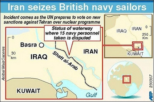 British sailors seized by Iran