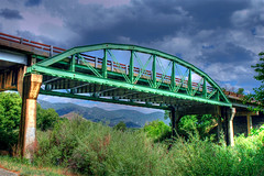 Hwy 291 Bridge, Salida, Colorado (Thad Roan - Bridgepix) Tags: bridge green colorado steel bridges salida span hdr whitewaterrafting arkansasriver bridging truss brownscanyon chaffeecounty bridgepixing bridgepix abigfave hwy291 highway291 brownscanon co291
