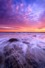 Hendrys Sunset (Toby Keller / Burnblue) Tags: california longexposure sunset toby beach santabarbara landscape evening keller d70 hendrys tobykeller 1118mm burnblue