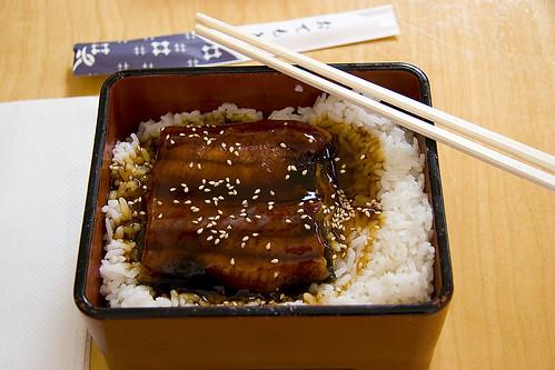 Unagi Donburi (eel over rice)