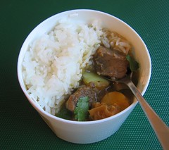 Sancocho stew in thermal lunch jar