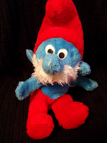 Well-Loved 80's Toys - Papa Smurf
