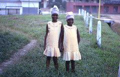 Smiling sisters, Pendembu, Sierra Leone (West Africa) (gbaku) Tags: pictures africa girls west girl scarf children town photo 60s village child photos head african headscarf picture villages sierra photographs sierraleone photograph westafrica afrika 1960s anthropologie towns leone sixties anthropology africain afrique ethnography ethnology africaine ethnologie afrikas