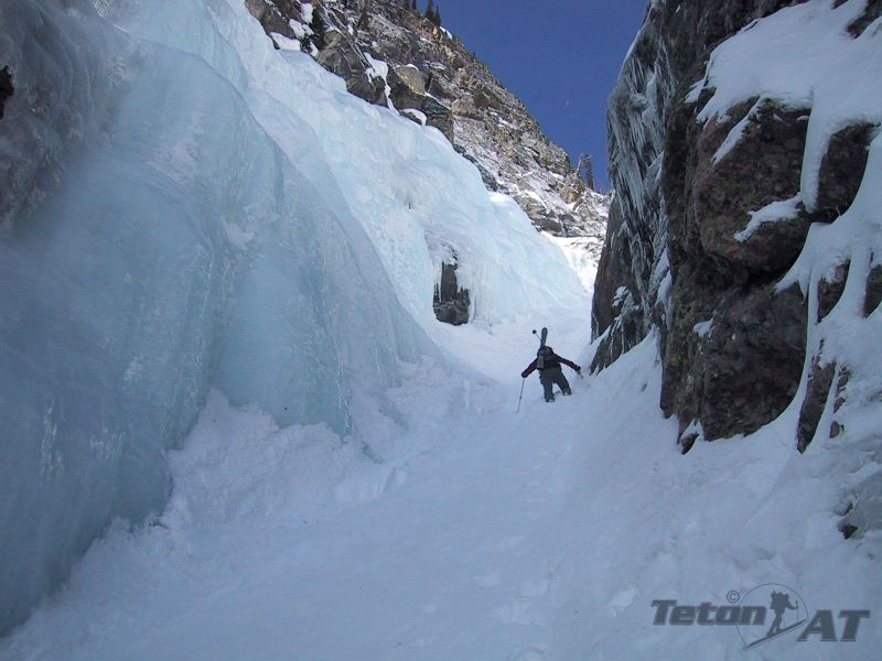 Randosteve climbs towards the ice