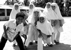 thorn among the roses :) (aufidius) Tags: hijab sri lanka modesty peopleofsrilanka childrenofsrilankabw