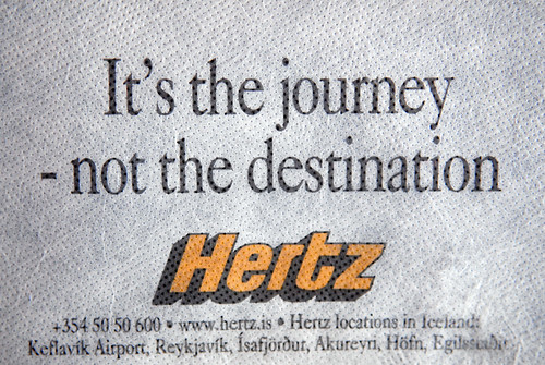 Is's the journey - not the destination