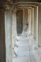 Angkor Wat Hallway Devatas