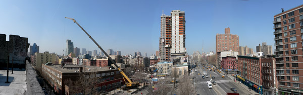 Houston Street Construction Pano