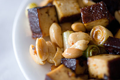 tofu and peanuts