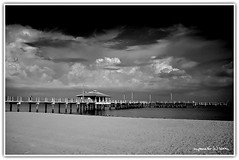 Gulf Pier - Fort De Soto (Michael Pancier Photography) Tags: blackandwhite bw stpetersburg landscape blackwhite tampabay florida piers beaches fortdesoto fineartphotography naturephotography seor naturephotographer floridaphotographer michaelpancier michaelpancierphotography gulfpier wwwmichaelpancierphotographycom seorcohiba