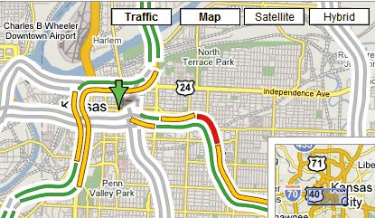 Google Maps toont real-time verkeersinformatie