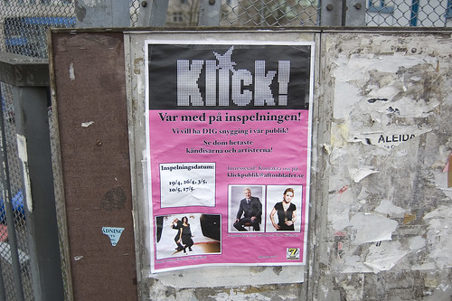 EFIT 2007-04-19, 17:40: Annorlunda Aftonbladetannonsering, vid Globens t-bana