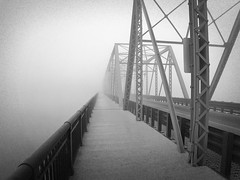 the bridge (51e) Tags: bridge fog newjersey newhope lambertville