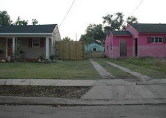 two houses in New Orleans' Ninth Ward