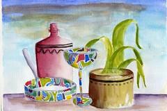 Clutter (Amudha Irudayam) Tags: watercolor painting northwest amudha