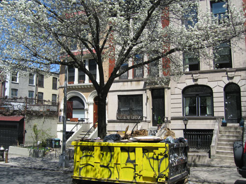 Spring with Dumpster