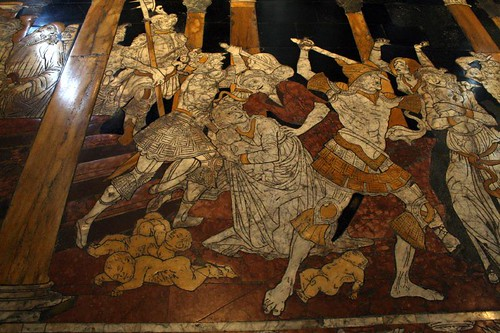 Floor panel with the slaughter of the innocents