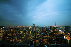 New York (Dan Campbell) Tags: city newyork rock night canon 350d cityscape top empirestatebuilding topoftherock sigma1020mm