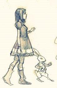 Alicia y Conejo