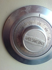 Photo of a safe combination dial