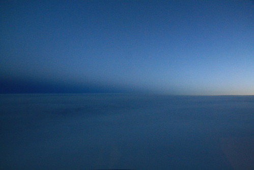 Sunset at 29,000 feet