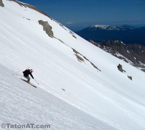 Reed skis Mount Lassen