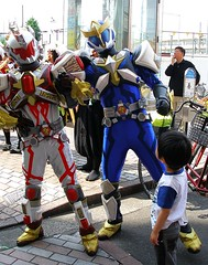 Funny captions 6 (tanakawho) Tags: city urban tokyo costume downtown hero streetperformance kidsday shoppingstreet tanakawho 1on1urban