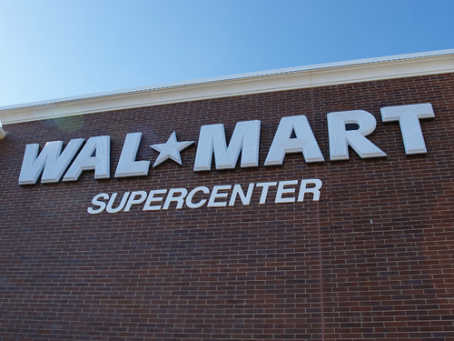 Walmart Supercenter sign by Ron Dauphin, on Flickr